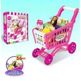 Тележка супермаркет+ продукты 56 деталей 922-09 в коробке