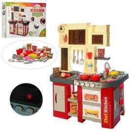 Кухня детская игровая  плита со звуком и светом 58 предметов 922-103 красная
