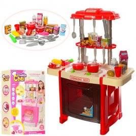 """Кухня детская игровая  """"Стильная хозяюшка"""" красная или розовая со звуковыми и световыми эффектами 922-14-15"""