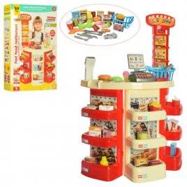 Магазин прилавок с кассой сканером и продуктами со звуком и светом 922-20