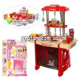 Уценка!Кухня детская  красная со звуковыми и световыми эффектами 922-14-15