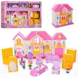 Домик для кукол с мебелью и фигурками WD-922