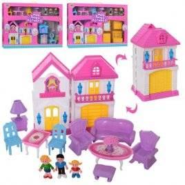 Домик для кукол с мебелью и фигурками WD-926-А-В