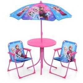 Столик летний с зонтом и раскладными стульчиками для детей Фроузен 93-74-FR