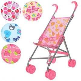 Коляска- тросточка для кукол Melogo 9302 розовая