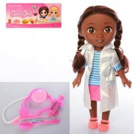 Набор кукла со стетоскопом и инструментами Доктор Плюшева 9320-5