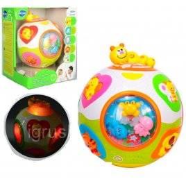 Развивающая игрушка для малышей Музыкальный шар с животными 938