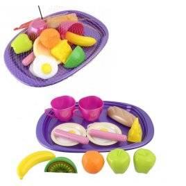 """Поднос детский с игрушечными продуктами и посудкой """"Завтрак"""" 955 в.2"""