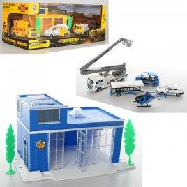 Гараж с металлическими машинками Полицейский участок 95533-599-31