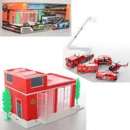 Гараж с металлическими машинками Пожарные или Автогонки 95577-599-31