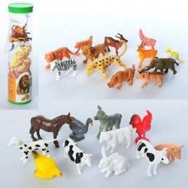 Набор животных дикие или домашние 9689-15-16 в колбе
