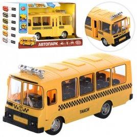 Автобус инерционный школьный с музыкой и открывающимися дверями 9714E большой