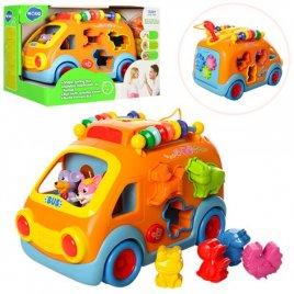 Автобус-сортер развивающая игрушка с трещеткой 988