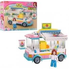 Конструктор для девочек Автобус медицинская помощь 195 деталей M38-B0797 SLUBAN