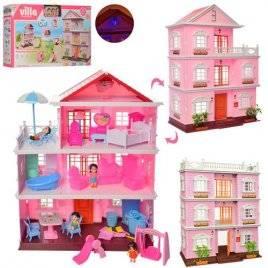 Домик для мини кукол 3 этажа с подсветкой KB99-36-A