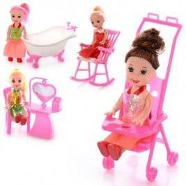 Мини кукла с мебелью или коляской 9905-86-88 B