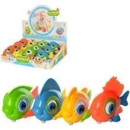 Заводная игрушка рыбка двигает глазами и хвостом 9910