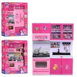 Мебель для куклы розовая Кухня со звуком и светом DN9913-14-18PO