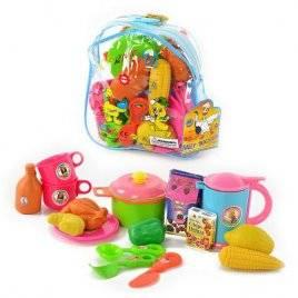Посудка с продуктами  детскаяв рюкзаке 9952