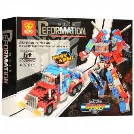 Конструктор трансформер робот+машинка 482 деталей ZB9957