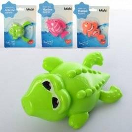 Заводная водоплавающая игрушка Крокодил/Рыбка/Лягушка K999-209-1234