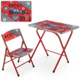 Детский столик и стульчик складные Спортивная машина A19-SPORT