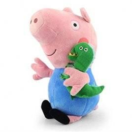 Мягкая игрушка Свинка Джордж с динозавром 24993-1