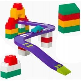Конструктор пластиковый трек Авто-Блок №2 1784 Colorplast