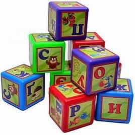 Кубики пластмассовые большие Азбука 9 штук 020/2 Bamsik, Украина