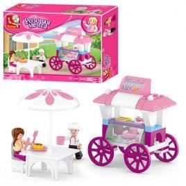 Конструктор для девочек Бар-кафе на колесах M38-B0522