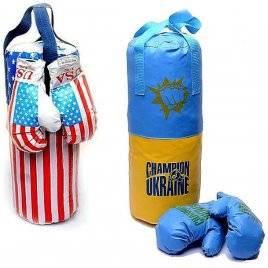"""Боксерский набор """"Перчатки+Груша"""" большой Danko-Toys, Украина"""