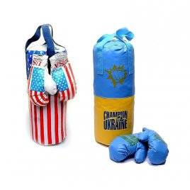 "Боксерский набор ""Перчатки+Груша"" средний Danko-Toys, Украина"