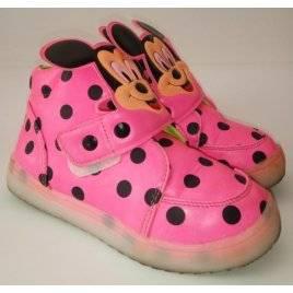 Уценка! Ботинки осенние розовые Микки Маус 2018