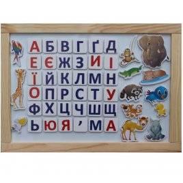 Магнитная доска на стену Животные + украинский алфавит