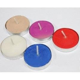 Свечи плавающие цветные поштучно