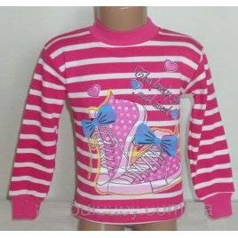 Гольфик детский для девочки с начесом Кеды розовый Турция