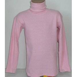 Гольфик детский для девочки рубчик нежно-розовый 8-10 лет Турция