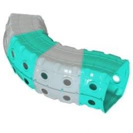 Тоннель (туннель) игровой пластиковый 4 секции зелено-красный  01471/1 Долони Тойс