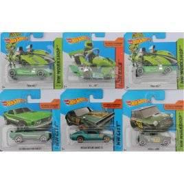 Машинки металлические Хот Вилс Hot Wheels зеленые