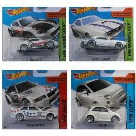 Машинки металлические Хот Вилс Hot Wheels белая