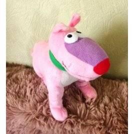 Уценка! Мягкая игрушка розовый пес из мультфильма про сову 2021