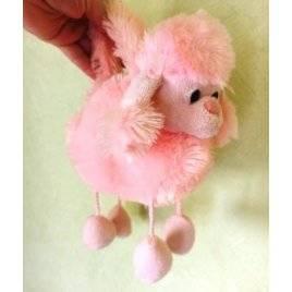 Уценка! Мягкая игрушка сумка на змейке Розовый пудель 2021