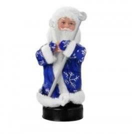 Дед Мороз игрушка с музыкой и светом малый 60808/JY011 в синем УЦЕНКА!!!