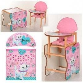 Детский стульчик для кормления деревянный Мультики M K-110 Vivast
