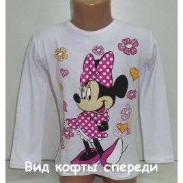 Кофта для девочки Модница Мини белая 741085 Турция