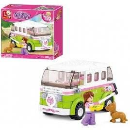 Конструктор Автобус для девочек 158 деталей 38-0523 Sluban