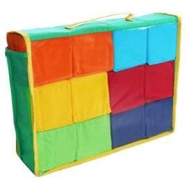 Кубики мягкие Цветные 12 штук Розумна играшка