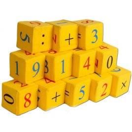 Кубики мягкие желтые Цифры 12 штук Розумна играшка