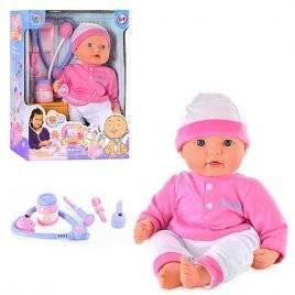 """Кукла """"Моя Малышка"""" с набором доктора стучит сердце, плачет, горят щечки при температуре 5238 Joy Toy"""