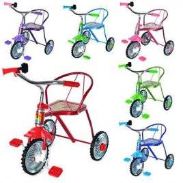 Детский трехколесный велосипед со спинкой LH-701 M